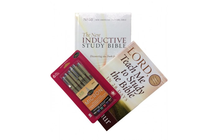 Study Pack 1 - Getting Started (Hardback Bible NASB, Lord Teach Me to Study the Bible in 28 Days & Micron Pen Set)