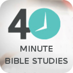 """LEVEL 1 - """"40 Minute"""" -  topical Bible study series  - No homework"""